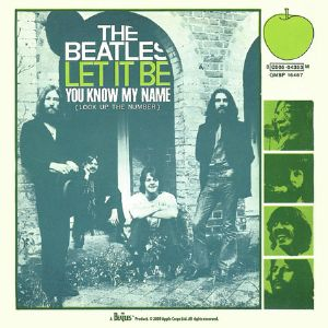 Beatles Let It Be (Single cover) drinks coaster  (hb)